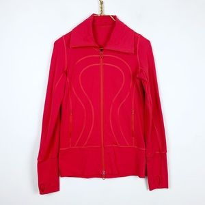 Lululemon Logo Detailed Athletic Jacket In Pink